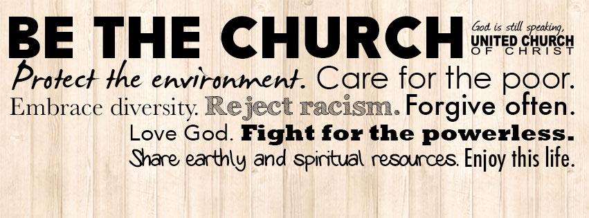 Be the church.  Alongside us.